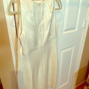 Off white fitting high waist dress